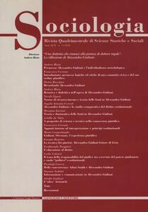 Sociologia. Rivista quadrimestrale di scienze storiche e sociali (2010). Vol. 3 - copertina