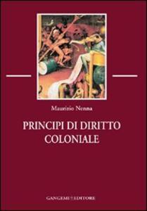 Principi di diritto coloniale - Maurizio Nenna - copertina