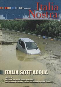 Italia nostra (2011). Vol. 466: Italia sott'acqua. - copertina