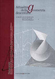 Attualità della geometria descrittiva - copertina