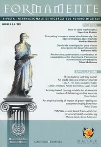 Formamente. Rivista internazionale sul futuro digitale (2011) vol. 3-4 - copertina