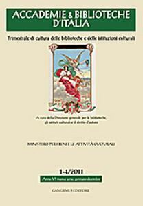 Accademie & biblioteche d'Italia (2011) vol. 1-4 - copertina