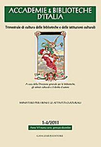 Libro Accademie & biblioteche d'Italia (2011) vol. 1-4