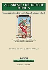 Accademie & biblioteche d'Italia (2011) vol. 1-4