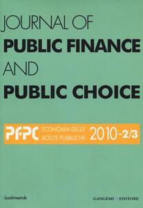 Journal of public finance and public choice (2010) vol. 2-3 - copertina