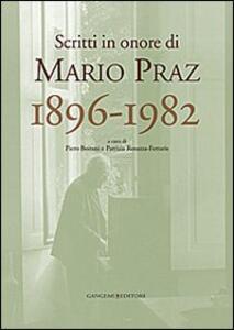 Scritti in onore di Mario Praz 1896-1982