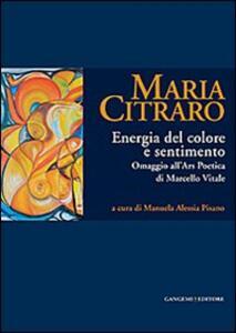 Maria Citraro. Energia del colore e sentimento. Omaggio all'ars poetica di Marcello Vitale