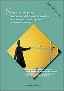 Seconda chance. Prevenzione del rischio di recidiva per i minori stranieri presenti nel circuito penale. I numeri pensati - copertina