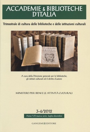 Accademie & biblioteche d'Italia (2012) vol. 3-4