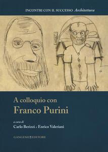A colloquio con Franco Purini - copertina