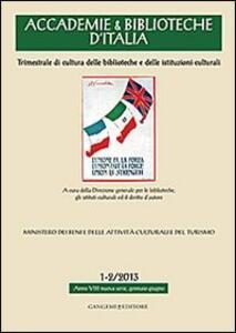 Accademie & biblioteche d'Italia (2013) vol. 1-2 - copertina