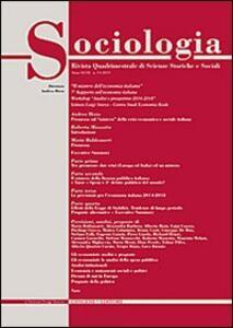 Sociologia. Rivista quadrimestrale di scienze storiche e sociali (2013). Vol. 3 - copertina