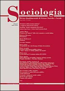 Libro Sociologia. Rivista quadrimestrale di scienze storiche e sociali (2013). Vol. 3
