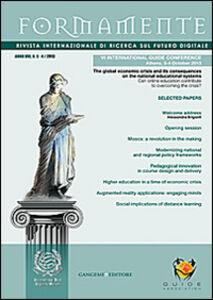 Foto Cover di Formamente. Rivista internazionale sul futuro digitale (2013). Ediz. italiana e inglese vol. 3-4, Libro di  edito da Gangemi