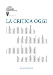 La critica oggi - copertina