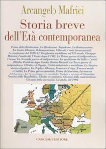 Storia breve dell'età contemporanea - Arcangelo Mafrici - copertina