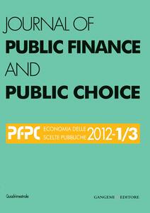 Journal of public finance and public choice. Economia delle scelte pubbliche (2002) vol. 1-3. Ediz. italiana e inglese - Domenico Da Empoli - copertina