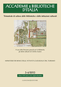 Accademie & biblioteche d'Italia (2013) vol. 3-4 - copertina