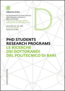 Le ricerche dei dottorandi del Politecnico di Bari. Ediz. italiana e inglese - copertina