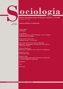 Sociologia. Rivista quadrimestrale di scienze storiche e sociali (2014). Vol. 3 - copertina