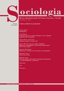 Libro Sociologia. Rivista quadrimestrale di scienze storiche e sociali (2014). Vol. 3
