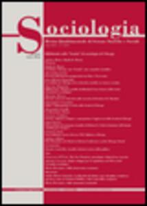 Sociologia. Rivista quadrimestrale di scienze storiche e sociali (2015). Vol. 1 - copertina
