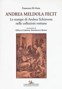 Andrea Meldola fecit. Le stampe di Andrea Schiavone nelle collezioni romane - Francesca Di Gioia - copertina
