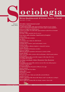 Sociologia. Rivista quadrimestrale di scienze storiche e sociali (2015). Vol. 3 - copertina