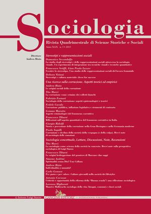 Sociologia. Rivista quadrimestrale di scienze storiche e sociali (2015). Vol. 3