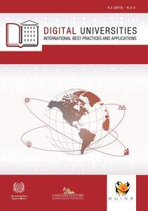 Digital universities. International best practices and applications (2015). Vol. 2-3 - copertina