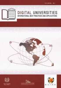 Digital universities. International best practices and applications (2016). Ediz. illustrata. Vol. 1 - copertina