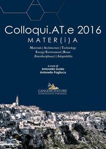 Colloqui.AT.e 2016 Mater(i)a. Ediz. a colori - copertina