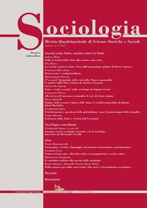 Sociologia. Rivista quadrimestrale di scienze storiche e sociali (2017). Vol. 1