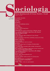 Sociologia. Rivista quadrimestrale di scienze storiche e sociali (2017). Vol. 2 - copertina
