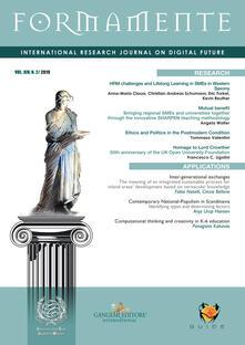 Formamente. Rivista internazionale sul futuro digitale. Ediz. inglese (2019). Vol. 2.pdf