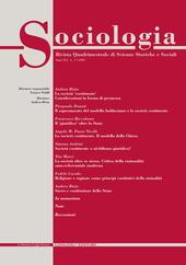 Sociologia. Rivista quadrimestrale di scienze storiche e sociali (2008). Vol. 1