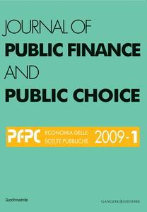 Journal of public finance and public choice. Economia delle scelte pubbliche (2009). Vol. 1