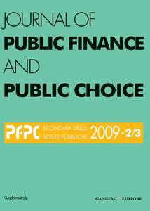 Journal of public finance and public choice (2009) vol. 2-3
