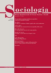 Sociologia. Rivista quadrimestrale di scienze storiche e sociali (2012). Vol. 3