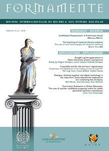 Formamente. Rivista internazionale sul futuro digitale. Ediz. inglese (2018). Vol. 3-4