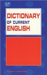 Dictionary of current english - Gabrielle Hodson Hirst - copertina