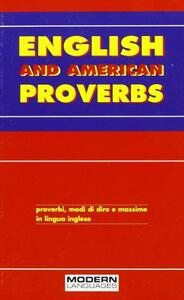 English and american proverbs - copertina