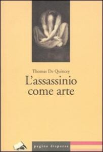 L' assassinio come arte - Thomas De Quincey - copertina
