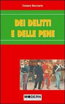 Dei delitti e delle pene - Cesare Beccaria - copertina