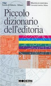 Piccolo dizionario dell'editoria - copertina