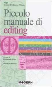 Piccolo manuale di editing - copertina