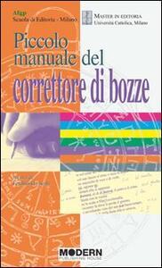 Piccolo manuale del correttore di bozze - copertina