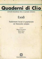 Esodi. Trasferimenti forzati di popolazione nel Novecento europeo