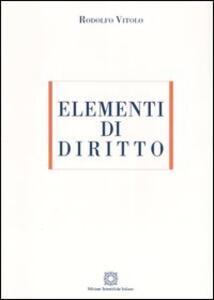 Elementi di diritto - Rodolfo Vitolo - copertina