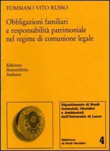 Obbligazioni familiari e responsabilità - Tommaso Russo - copertina
